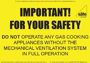Commercial Catering Ventilation Advice Notice